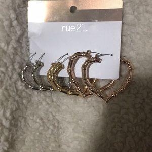 Bamboo brand new earrings